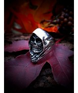 Ankou Scottish Grim Reaper Ring Dark Moon Magic... - $63.99
