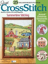 CLEARANCE Just Cross Stitch August 2015 PRE-ORNAMENT magazine issue  - $3.50