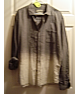 Men's Cotton On Twill Gray to White Fade Size XXL Long Sleeve Button Dow... - $19.95