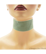 Grey Velvet Choker 2 inches 50 mm wide Custom Size Handmade USA victoria... - $7.75