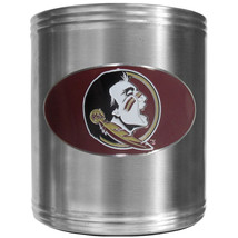 florida state seminoles logo ncaa college emblem color steel can cooler usa made - $18.04