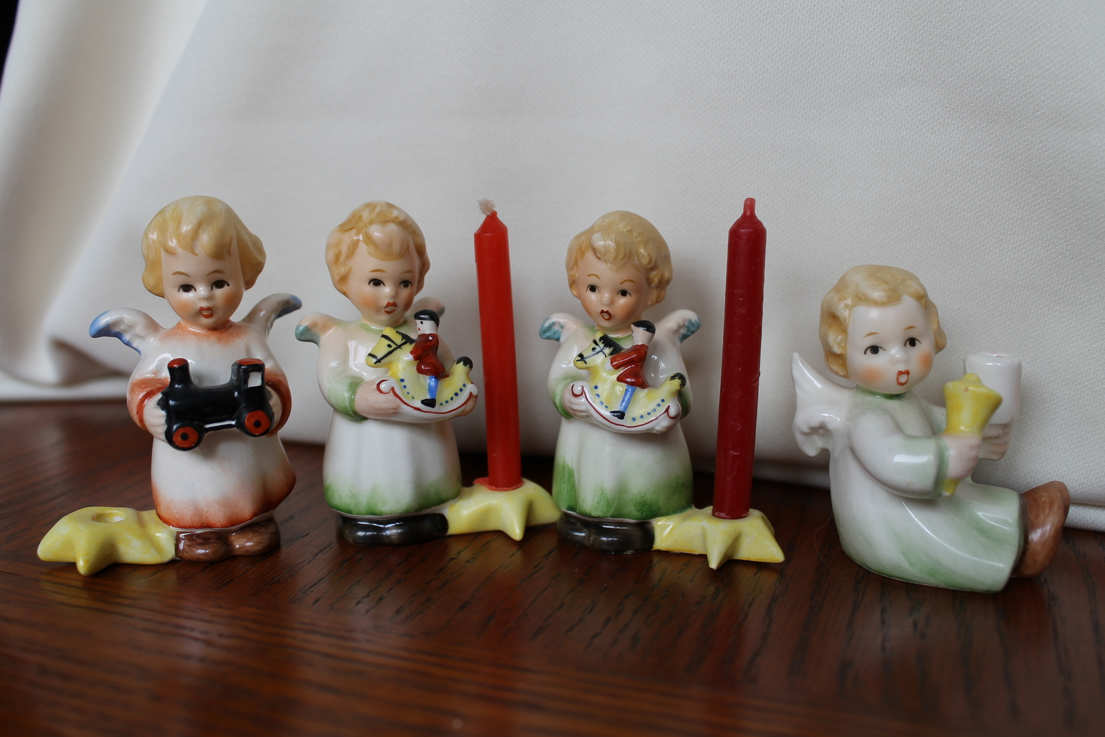 Goebel Angel Figurines, Candleholders, Set of 5
