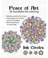 CLEARANCE Peace of Art Coloring Book mandalas adult coloring Ink Circles  - $10.87 CAD