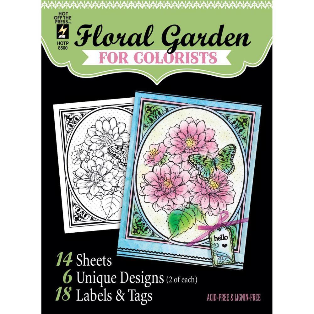 CLEARANCE Floral Garden Hot Off The Press Colorist Coloring Book 5x6  - £3.22 GBP