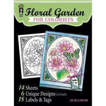 CLEARANCE Floral Garden Hot Off The Press Colorist Coloring Book 5x6  - $4.00