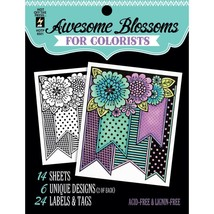 CLEARANCE Awesome Blossoms Hot Off The Press Colorist Coloring Book 5x6  - $4.00
