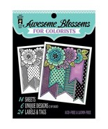 CLEARANCE Awesome Blossoms Hot Off The Press Colorist Coloring Book 5x6  - £3.22 GBP