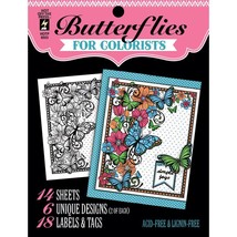 CLEARANCE Butterflies Hot Off The Press Colorist Coloring Book 5x6  - $4.00