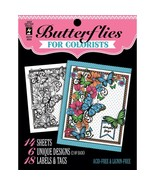 CLEARANCE Butterflies Hot Off The Press Colorist Coloring Book 5x6  - £3.22 GBP