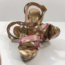 Jessica Simpson Pink and Gold Platform Stilletto Sandals (6 1/2B / 36) - $36.09