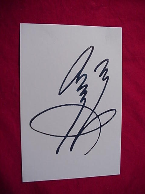 Primary image for JIMMY PAGE  Autographed Signed Signature Cut w/COA - 30702