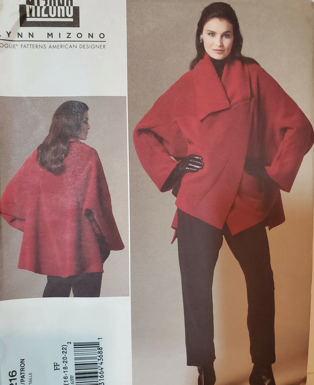 Primary image for Vogue Pattern 1216 Lynn Mizono Jacket and Pants Sewing Pattern