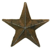 CAST IRON Medium Nail Star Set of 12 Western Wall Decor - $22.76