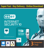 ESET Internet Security 2018, 1 or 3 or 5 PCs / 1 Year- License in eBay M... - $11.18 CAD+