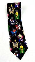 Looney Tunes Mania Tie Stars Necktie Black Sunglasses Taz Tweety Bugs Bu... - $12.87