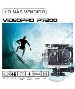 Cámara Acción Deportiva Subacuática Negra 4K HD WIFI Sumergible Pantalla... - $46.99