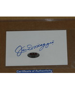 JOE DIMAGGIO AUTOGRAPHED INDEX CARD - $60.00