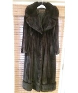 Furs by Mannis Full Length Black Mink Coat Vintage - $2,600.00