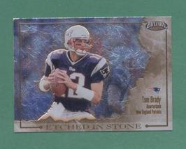 2002 Pacific Exclusive Tom Brady Etched In Stone Insert - $12.00