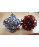 Set of 2 Handmade Sequin/Beaded Christmas/Holiday Ornaments - $9.89
