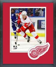 Gustav Nyquist 2016-17 Detroit Red Wings -11x14 Team Logo Matted/Framed Photo - $42.95