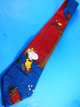 Snoopy & Woodstock Men's Neck Tie Charlie Brown and Gang Peanuts United Features - $5.88