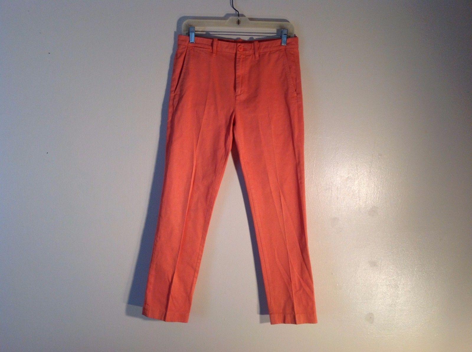 Used Condition Crew Cuts Size 14 Orange Slim Sun Faded Pants 100% Cotton