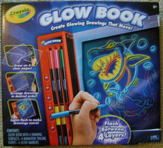 Crayola Glow Book Glowing Drawings Move Tracing Guides Markers Crafts Ar... - $22.49