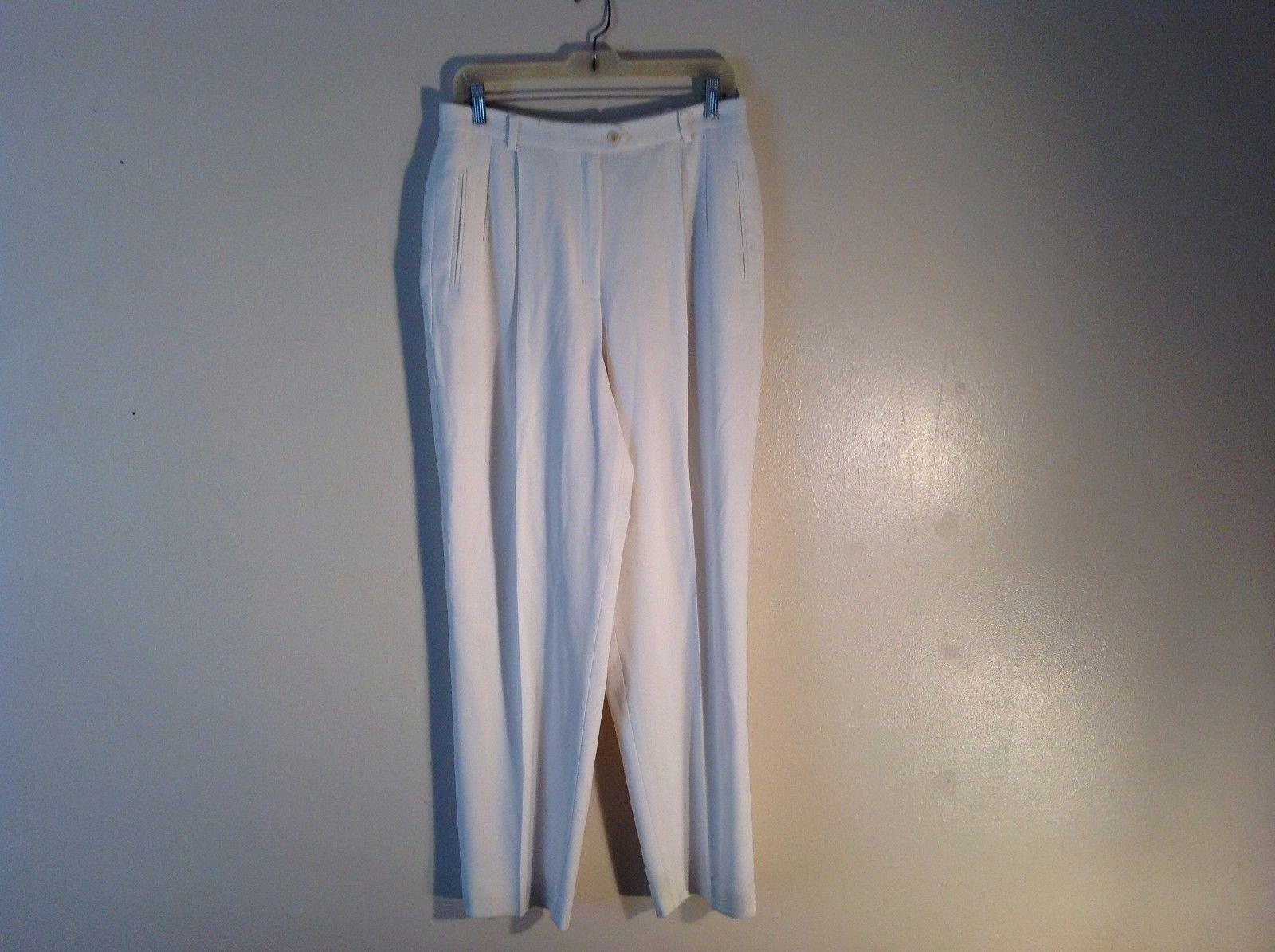 Used Condition Liz Claiborne Size 14 Loose Baggy Stylish White Dress Pants
