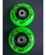 2 68mm Outdoor Replacement Inline Skate Wheels with Bearings Rollerblade... - $49.99