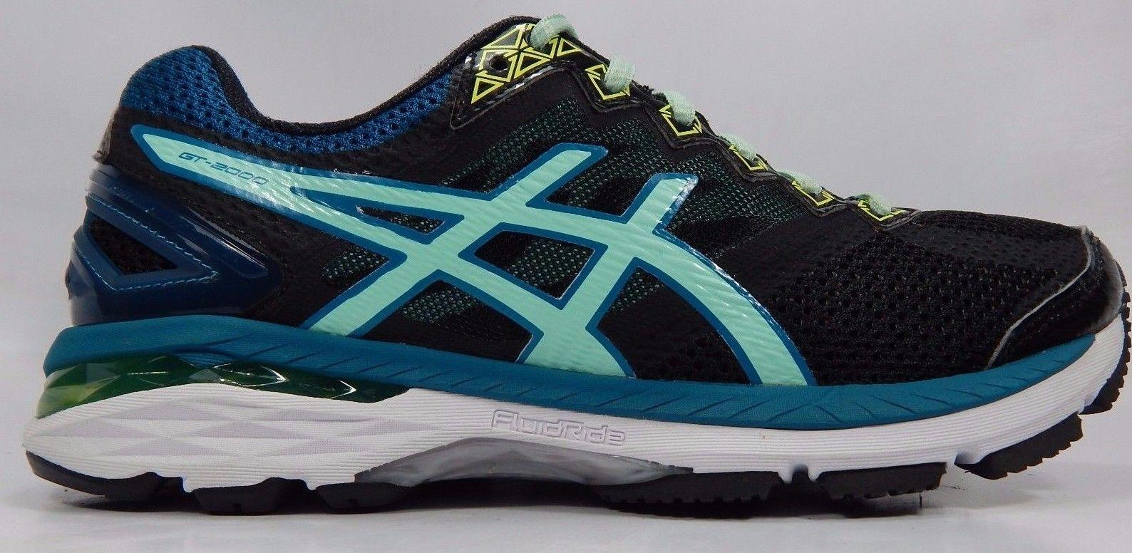 Asics GT 2000 v 4 Women's Running Shoes Size US 7 M (B) EU 38 Black T656N