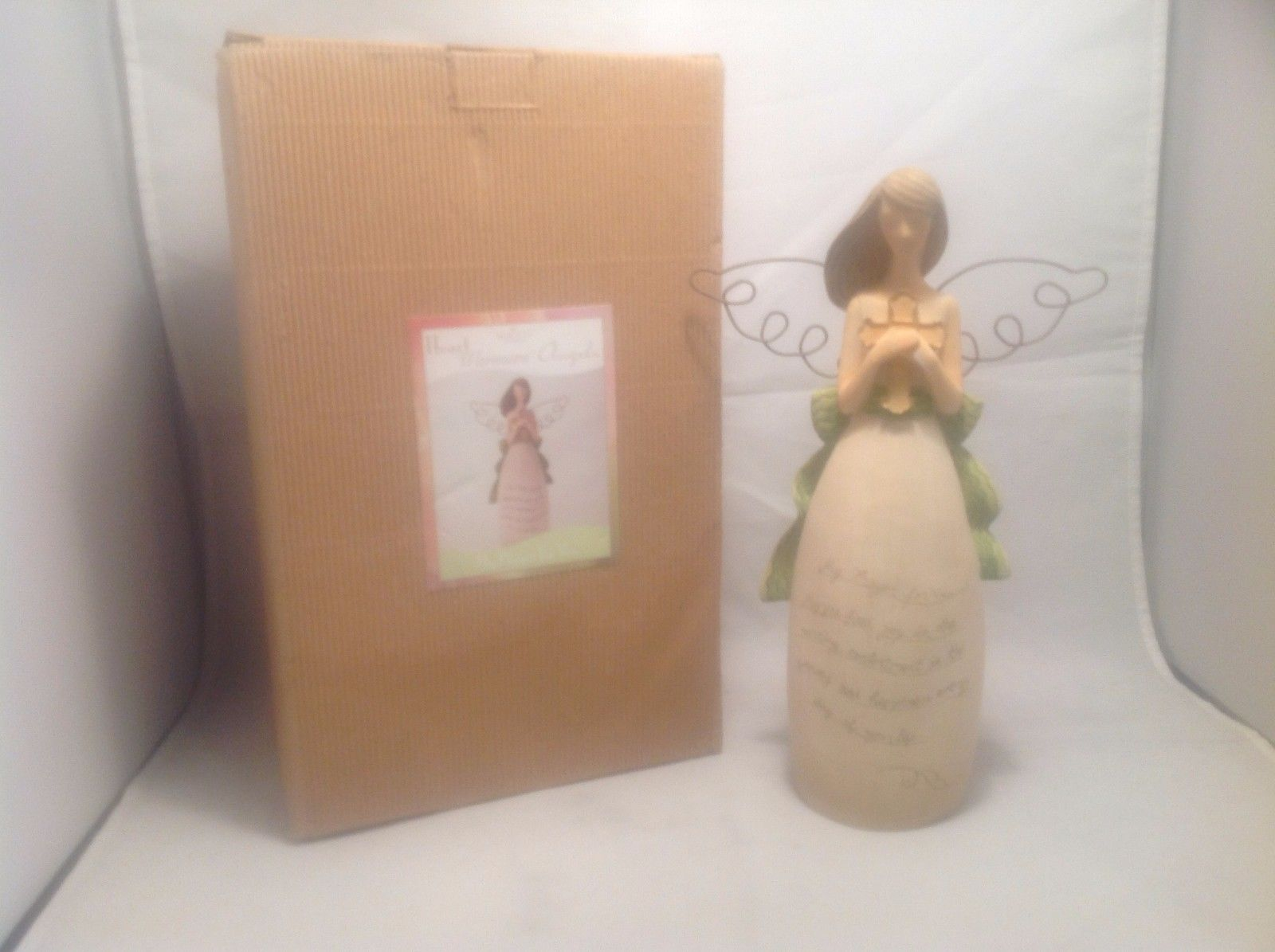 "New In Box Heart Warmers Angels My Prayer For You Stands 10"" Tall 6"" Wingspan"