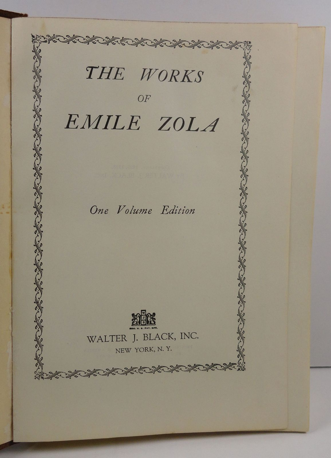 The Works of Emile Zola by Emile Zola 1938 Leather