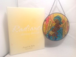 "Never Used In Box Radiance Suncatcher Angel & Baby 6 1/2"" Diameter 3"" Chain - $34.64"