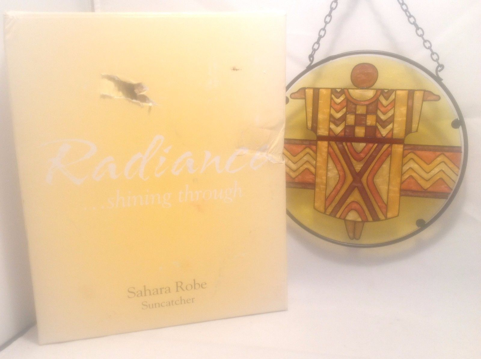 "New In Box Never Used Radiance Suncatcher Sahara Robe 6 1/2"" Diameter 3"" Chain"