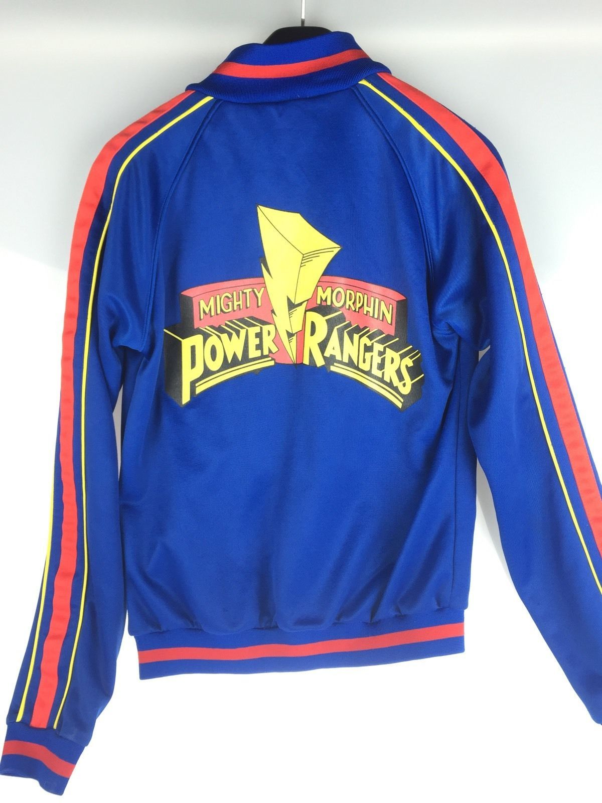 Vintage Mighty Morphin Power Rangers Track Jacket Sz S Rare 90s Tv Show