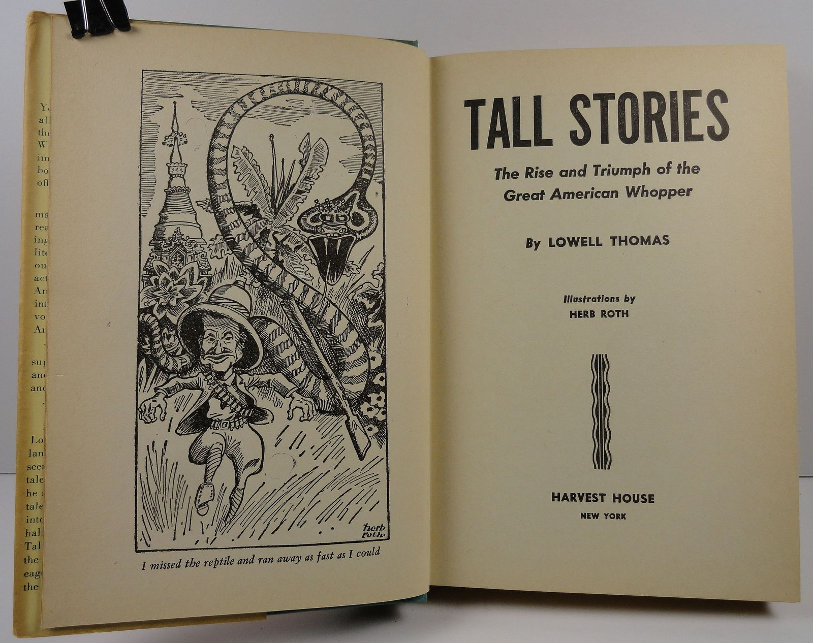Tall Stories by Lowell Thomas 1945 HC/DJ
