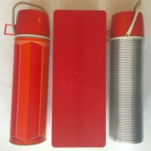 Vintage Thermos Picnic Items Two Bottles Plastic Sandwich Storage Container - $19.79