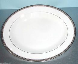 "Gorham Portsmouth Oval Serving Platter 14"" White with Platinum Trim New - $46.90"