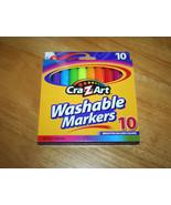 Cra-Z-Art Washable Markers - 10 Brighter Bolder Colors Broadline - Non-T... - $4.99