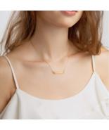 Choose Love - Engraved Silver Bar Chain Necklace Unique Gift Unique & Su... - $35.50