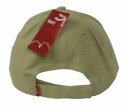 NEW NWT LEVI'S RED TAB MEN'S CLASSIC COTTON ADJUSTABLE BASEBALL HAT CAP TAUPE image 4