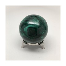 467.2 Grams 100% Polished Natural Green Malachite Healing Crystal Sphere Hand... - $168.48