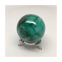 391.1 Grams 100% Polished Natural Green Malachite Healing Crystal Sphere Hand... - $141.12