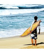 "BIRTHDAY CARD ""HAWAIIAN SURFER"" LARGE SQUARE SI... - $5.19"