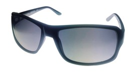 Kenneth Cole Reaction Mens Plastic Shiny Black Rectangle Sunglass  KC135... - $17.99