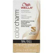 Wella Color Charm 9N/911 Very Light Blonde Permanent Liquid Hair Color Value ... - $53.99