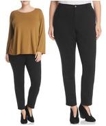 Eileen Fisher Organic Cotton Stretch Denim Slim Ankle Black Jeans 24W - $89.25