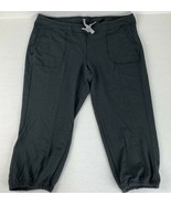 New Balance Capri Sweatpants with pockets Black Charcoal Pants Small - $24.75