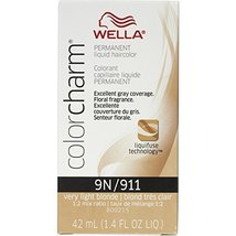 Wella Color Charm 9N/911 Very Light Blonde Permanent Liquid Hair Color V... - $13.12